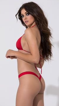 Low Rise Comfort Thong - Red