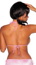 Triangle String Tie Top - Baby Pink