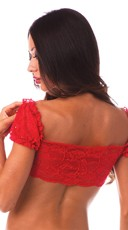Lace School Girl Top - Red