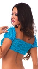 Lace School Girl Top - Turquoise
