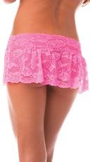 Lace Flirty Skirt - Neon Pink
