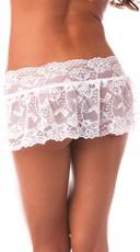Lace Flirty Skirt - White