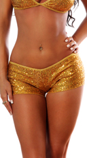 New Year's Club Shorts - Gold
