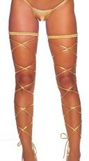 Metallic Garter and Leg Wrap Set - Gold