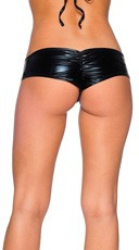Metallic Micro Boy Shorts - Black