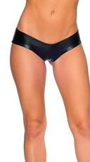 Metallic Micro Boy Shorts - Black