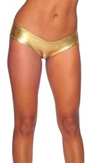 Metallic Micro Boy Shorts - Gold