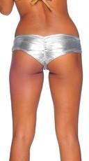 Metallic Micro Boy Shorts - Silver