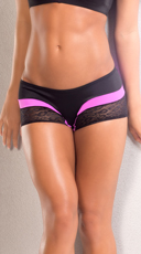 Leopard Scrunch Back Shorts - Pink/Black