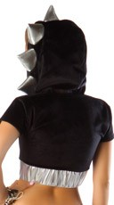 Black Foamy Spiked Jacket - Black/Silver