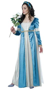 Romantic Juliet Costume - Blue/Cream