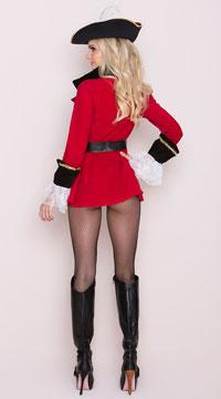 Captain's Treasure Costume - Red/Black