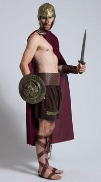 Mens Spartan Warrior Costume - Brown
