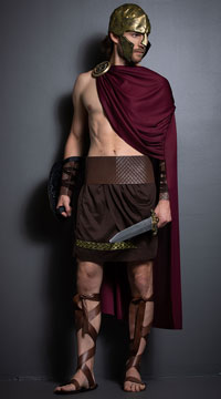 Mens Spartan Warrior Costume - as shown