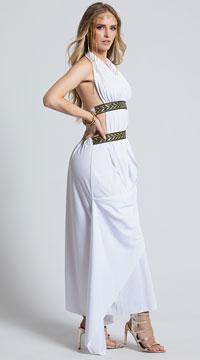 Spartan Queen Costume - White