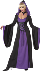 Purple Hooded Robe Costume - Purple/Black