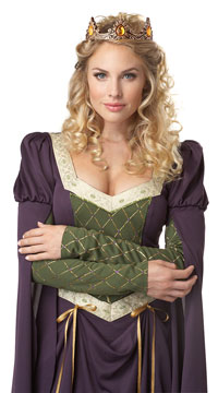 Lady In Waiting Costume - Purple