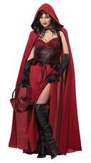 Dark Red Riding Hood Costume - Red