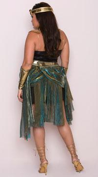 Plus Size Egyptian Goddess Costume - Black/Teal