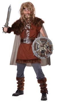 Men's Mighty Viking Costume - Brown