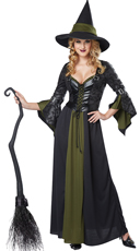 Classic Witch Costume - Black/Green