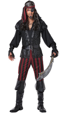 Men's Ruthless Rogue Costume - as shown
