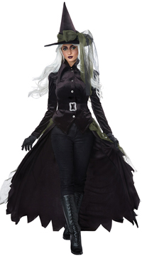 Gothic Witch Costume - Black