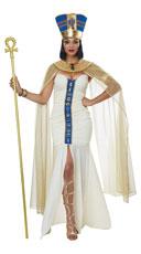 Queen Of Egypt Costume - Cream/Blue
