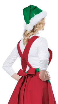 Elf In Charge Costume - Red/Green
