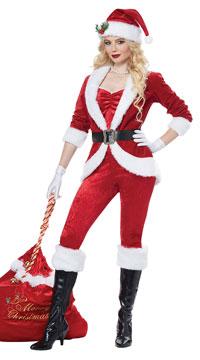 Sassy Santa Costume - Red/White