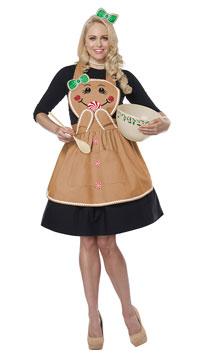 Gingerbread Apron Costume - Tan