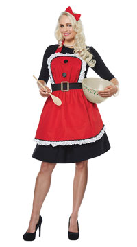 Mrs. Claus Apron - Red