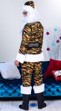 Men's Classic Camo Santa Suit Costume - Green/Brown