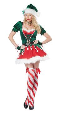 Santa's Helper Costume - Green/Red