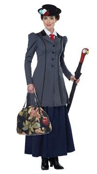 English Nanny Costume - Grey/Navy