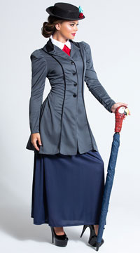 English Nanny Costume - as shown