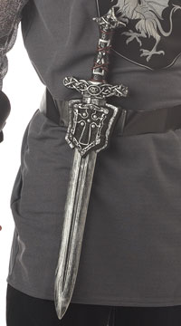 Knight Sword with Crusader Sheath - Silver/Black