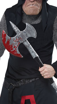 Bloody Headsman Axe - Black/Silver/Red