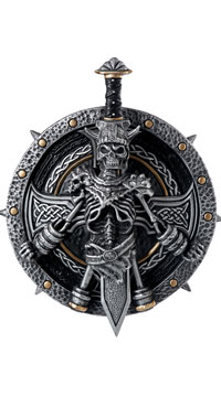 Destroyer Sword and Shield - Silver/Black/Gold