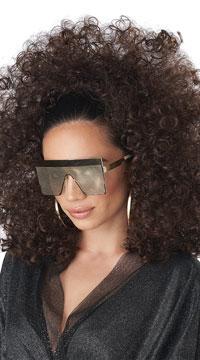 Brunette Curly Diva Wig - Brunette