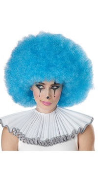 Neon Blue Jumbo Afro Wig - as shown