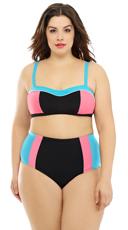 Plus Size Eighties Pulse Bikini - as shown