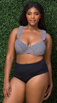 Plus Size Basic High Waisted Bikini Bottom - Black