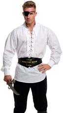 Men's Eyelet Pirate Shirt - White