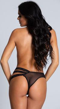 Double Take Black Mesh Panty - Black