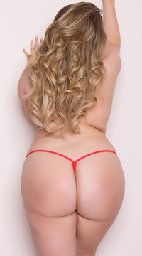 Plus Size Low Rise G-String - Red