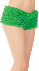 Ruffle Shorts with Back Bow - Green