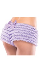 Ruffle Shorts with Back Bow - Lilac