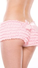 Ruffle Shorts with Back Bow - Pink
