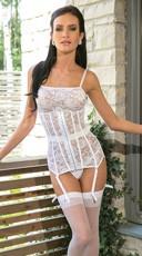 Bridal Lace Waist Cincher - White